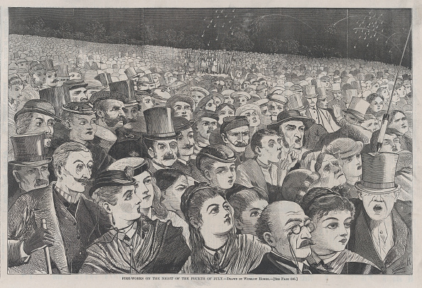 Engraving「Fire-Works On The Night Of The Fourth Of July (Harpers Weekly,」:写真・画像(3)[壁紙.com]