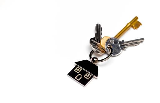 Keyring Charm「House keys with copy space」:スマホ壁紙(10)