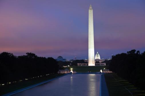 Obelisk「USA, Columbia, Washington DC, Washington Monument and Capitol Building」:スマホ壁紙(19)