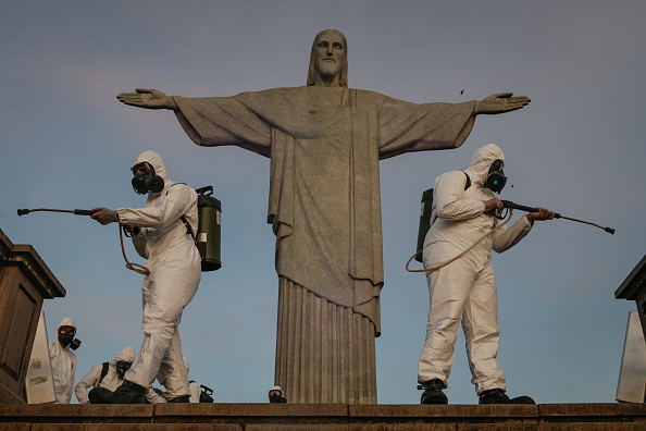 Rio de Janeiro「The Military Disinfects the Christ the Redeemer Amidst the Coronavirus (COVID - 19)」:写真・画像(3)[壁紙.com]