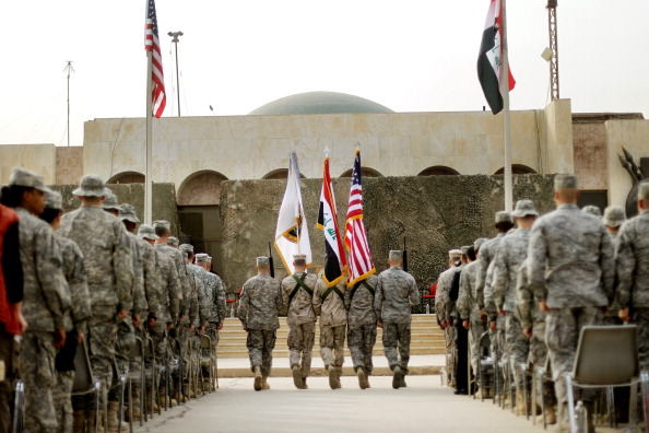 Baghdad「U.S. Military Holds Flag Casing Ceremony In Baghdad As Troops Pullout Of Country」:写真・画像(8)[壁紙.com]