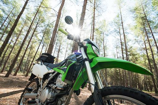 モータースポーツ「Dirt bike in the forest」:スマホ壁紙(15)