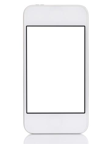 シルエット「白のスマートフォンタッチスクリーン」:スマホ壁紙(3)