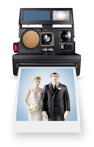 1980-1989「Instant for life. Photo of wedding cake topper.」:スマホ壁紙(3)