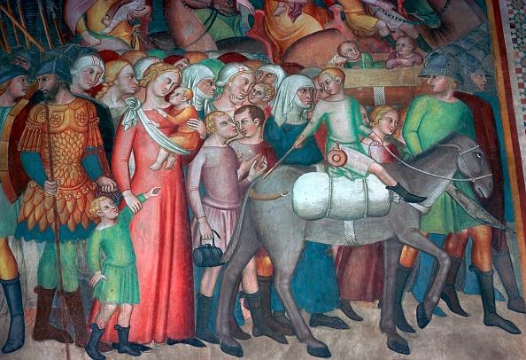 San Gimignano「Fresco in San Gimignano, 14th century. Artist: Bartolo di Fredi」:写真・画像(12)[壁紙.com]