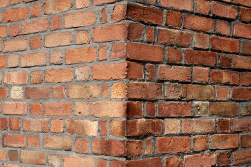 Brick Wall「Red brick wall corner」:スマホ壁紙(15)