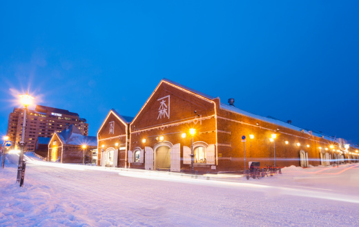 Hokkaido「red brick warehouse in Hakodate」:スマホ壁紙(3)