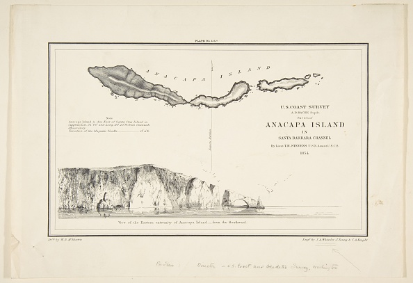 Anacapa Island「US Coast SurveySketch Of Anapaca Island In Santa Barbara Channel」:写真・画像(0)[壁紙.com]
