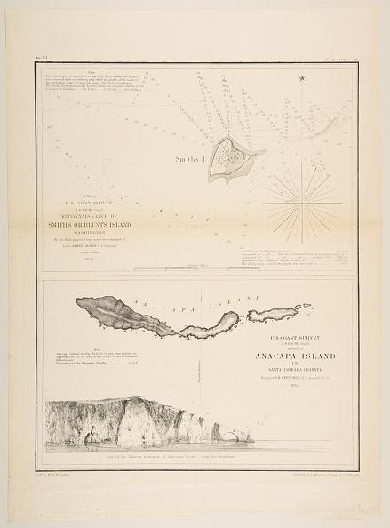 Anacapa Island「US Coast SurveyReconnaissance Of Smiths Or Blunts Island」:写真・画像(1)[壁紙.com]