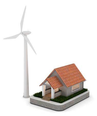 Generator「House and Wind Turbine」:スマホ壁紙(6)