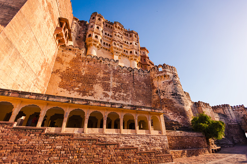 Jodhpur「Mehrangarh Fort in the Blue City of Jodhpur, Rajasthan, India」:スマホ壁紙(16)
