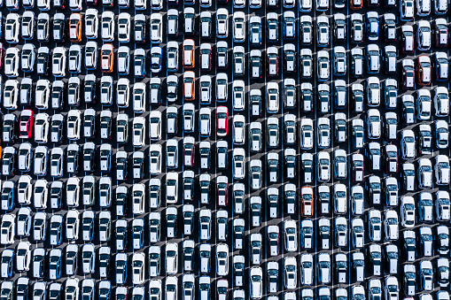 Traffic「The cars before the export are lined up」:スマホ壁紙(3)