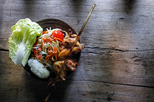 PGA Event「Som Tam Tai, a popular and favourite Thai food dish made of young sliced papaya, chili, tomatoes, palm sugar and dried shrimp, served with grilled chicken wings and sticky rice.」:スマホ壁紙(18)