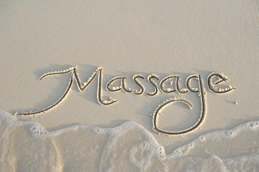 トウヒ「マッサージでなめらかな砂のメッセージに手書き」:スマホ壁紙(10)