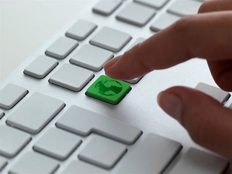 Computer Keyboard「keyboard message, green earth」:スマホ壁紙(6)