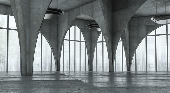 Industry「Modern concrete background stage」:スマホ壁紙(5)