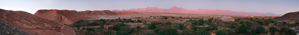 自然美「Sunset view of the valley of San Pedro de Atacama with the Llullaillaco volcano behind, at the left the Pukarö of Quitor (Fort of Quitor) is an ancient indian fortress, 3km's from the town of San Pedro de Atacama, over the hill of Quitor in northern Chil」:写真・画像(6)[壁紙.com]