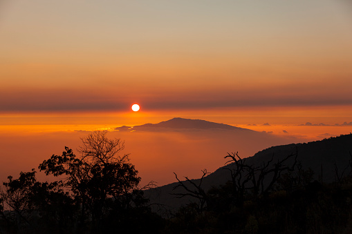 Haleakala National Park「sunset view from mauna kea to haleakala」:スマホ壁紙(15)