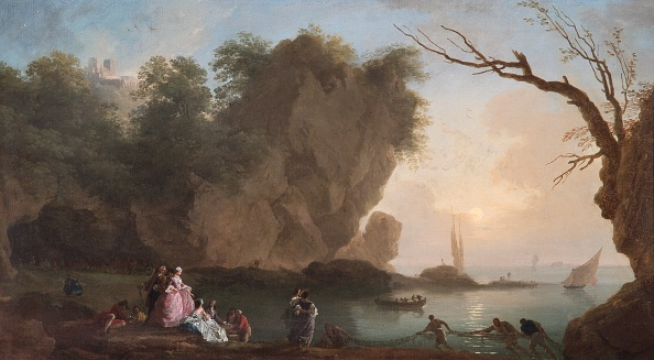 Recreational Pursuit「Sunset: View Over A Bay With Figures,」:写真・画像(17)[壁紙.com]