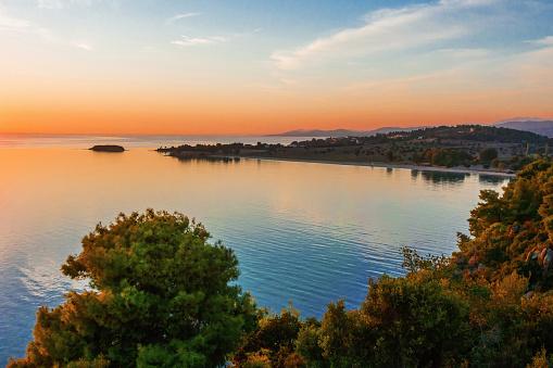 Halkidiki「Sunset view in Halkidiki, Greece」:スマホ壁紙(2)
