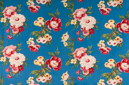 Floral Pattern「Contemplation Blue Medium Antique Floral Fabric」:スマホ壁紙(14)