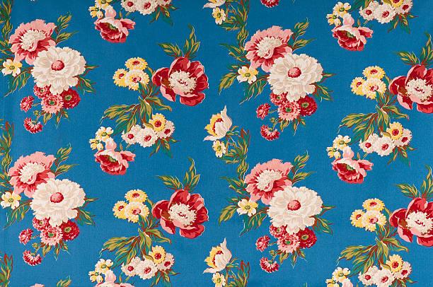 Contemplation Blue Medium Antique Floral Fabric:スマホ壁紙(壁紙.com)
