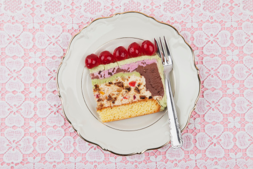 Pistachio Ice Cream「Plate of ice cream cake」:スマホ壁紙(19)