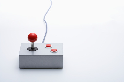 Joystick「Video game controller on white background」:スマホ壁紙(6)