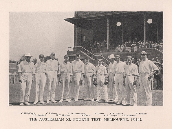 Land「The Australian XI for the Fourth Test vs England at Melbourne, 1911 (1912)」:写真・画像(18)[壁紙.com]