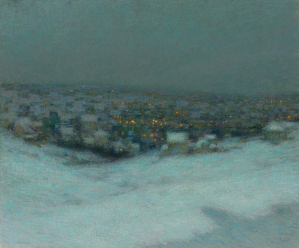 風景(季節別)「Snow On A Moonlit Night 1903」:写真・画像(1)[壁紙.com]