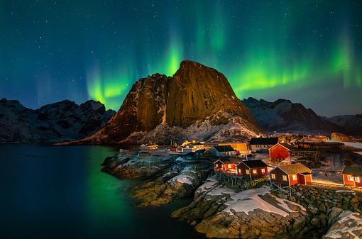 Volcanic Landscape「Lofoten Aurora, Norway」:スマホ壁紙(9)