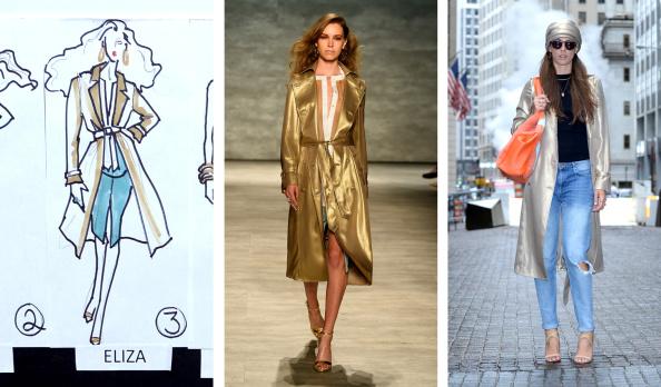 ストリートスナップ「(FILE) GEORGINE - Sketch To Street Style - Mercedes-Benz Fashion Week Spring 2015」:写真・画像(2)[壁紙.com]