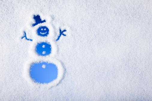 雪「スノーマンに描かれた冷凍ウィンドウ」:スマホ壁紙(5)