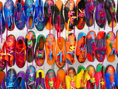 Market Stall「Many colorful shoes」:スマホ壁紙(1)