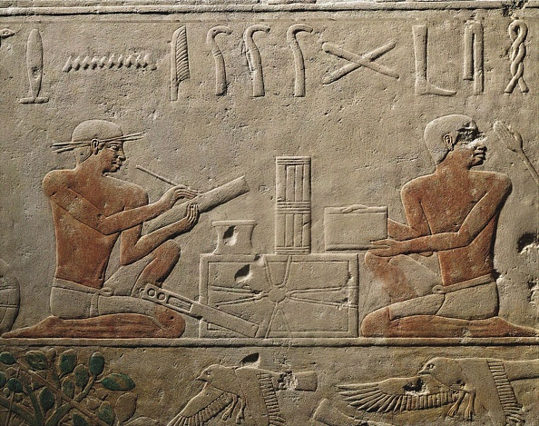 Paint「Two Scribes. Relief From Mastaba Of Akhethotep At Saqqara」:写真・画像(14)[壁紙.com]