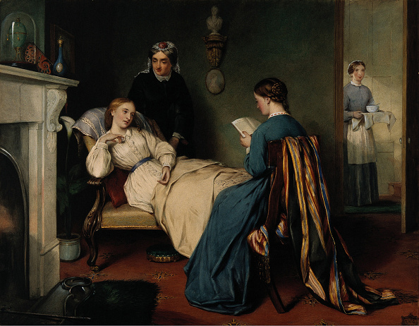 Giles「Girl read to a Convalescent while a nurse brings medication」:写真・画像(9)[壁紙.com]