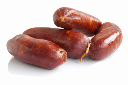 Chorizo「Fresh sausage isolated on white」:スマホ壁紙(15)