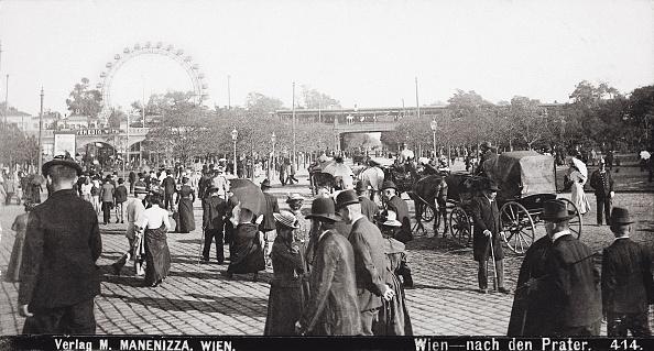 Amusement Park Ride「Praterstern In Vienna. In The Background The Ferris Wheel. Austria. Photograph. About 1900.」:写真・画像(17)[壁紙.com]
