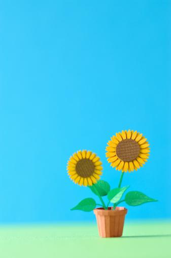 Origami「Sunflower model made ??of paper」:スマホ壁紙(6)