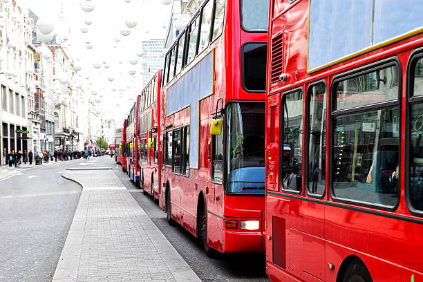 London Bus Traffic Jam:スマホ壁紙(壁紙.com)