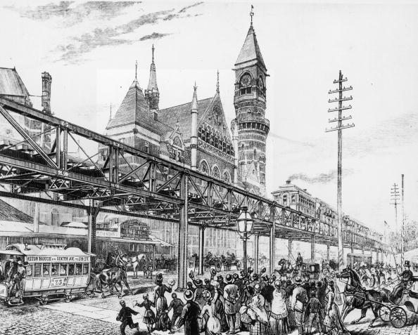 Crowd「Elevated Train On Sixth Avenue」:写真・画像(16)[壁紙.com]