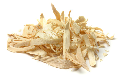 Heap「Wood shavings in a pile isolated on white」:スマホ壁紙(2)