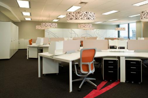 赤「オフィスのインテリア」:スマホ壁紙(7)