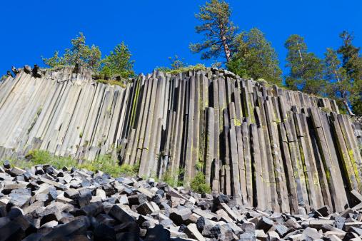 Basalt「Devils Postpile, columnar basalt formation」:スマホ壁紙(19)