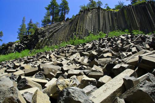 Basalt「Devils Postpile Ntl. Monument, California」:スマホ壁紙(16)