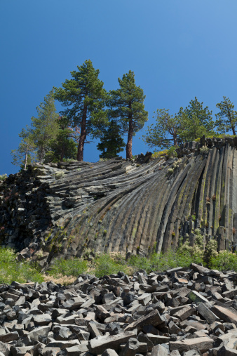 Basalt「Devil's Postpile National Monument, California」:スマホ壁紙(3)
