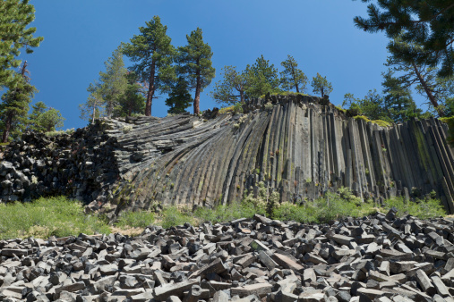 Basalt「Devil's Postpile National Monument, California」:スマホ壁紙(1)