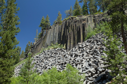Basalt「Devil's Postpile National Monument, California」:スマホ壁紙(2)