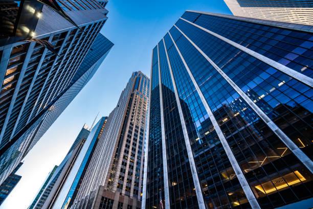 Modern skyscrapers in Midtown Manhattan:スマホ壁紙(壁紙.com)