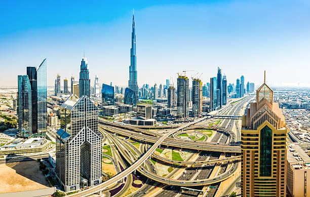 Modern skyscrapers in Downtown Dubai, Dubai, United Arab Emirate:スマホ壁紙(壁紙.com)